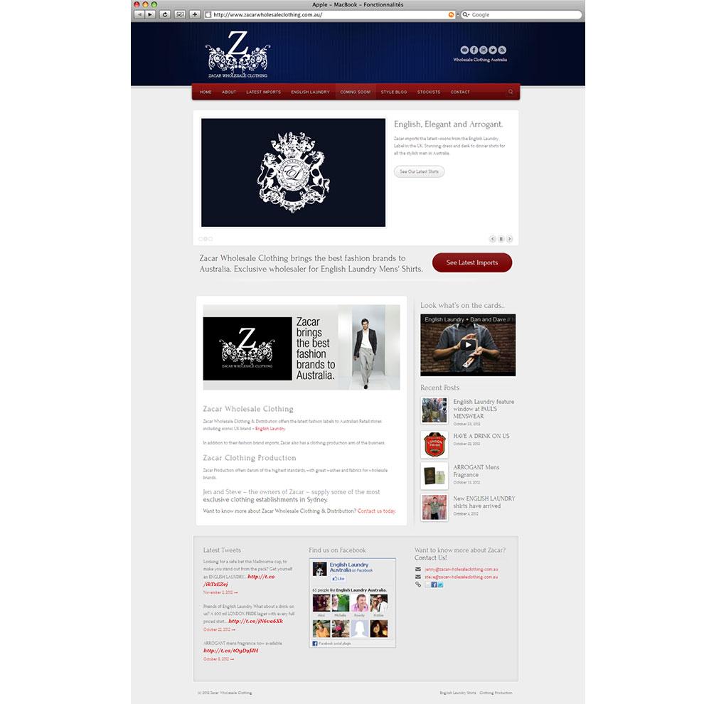Wordpress Website Example Wholesale Designer Clothing