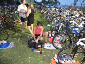 KIngscliff Triathlon - Transition Area