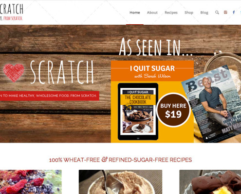 Health food blog creating recipes from scratch